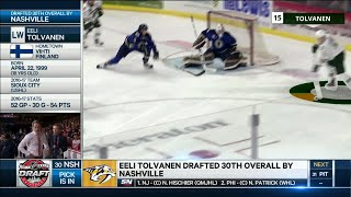 Tolvanen selected 30th by Stanley Cup runner up