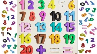 Learn To Count with PLAY-DOH Numbers | 1 to 20 | Learn Shapes | Play Doh Minecraft Pig | For kids