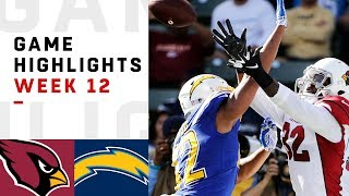 Cardinals vs. Chargers Week 12 Highlights   NFL 2018