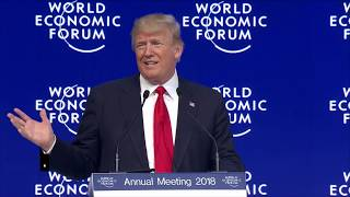 Donald Trump Speaks at Davos 2018