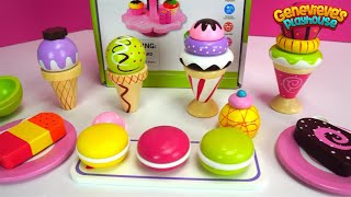 Ice Cream Toy Learning Video for Kids Learn Colors & Teach Shapes Fun Wooden Cupcake Toys for Kids!