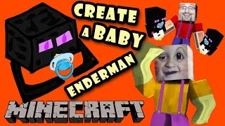 Minecraft: Enderbaby! How to Make a Baby Enderman w/ Chase (Pocket Edition Face Cam Tutorial DAD)