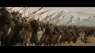 Gandalf vs Witch King - Theoden speech - Charge of Rohirrim