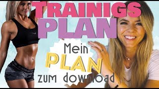 Trainingsplan erstellen + MEIN TRAININGSPLAN zum DOWNLOAD 🎉  abnehmen Muskeln 4er Split Sunny