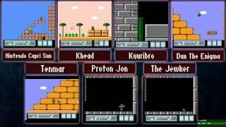 ProtonJon - 7 Player Race - Super Mario Bros. 3 and Donkey Kong Country 1