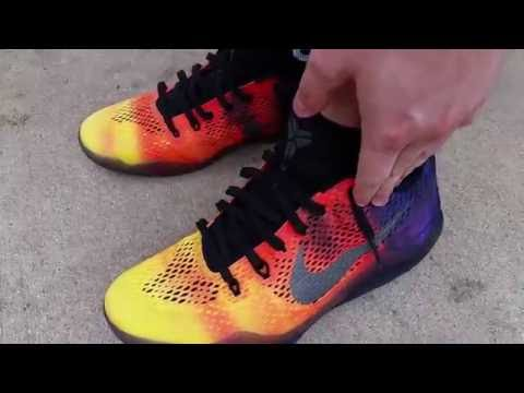NIKE KOBE BRYANT XI 11 GRADIENT SUNSET ELITE EM LOW ON FEET REVIEW HEAT! |  Daikhlo