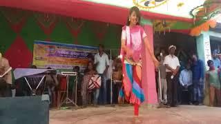 Bangladeshi village school girl stage performance