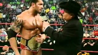 Batista and Jim Ross interview   RAW 4 11 2005   Video Dailymotion