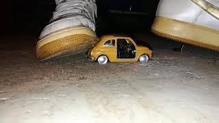 Lisa Big AF1 boots crush die cast car