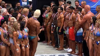The Start of a Muscle Beach Bodybuilding Show - Memorial Day 2017