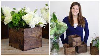 DIY Wood Cube Planter