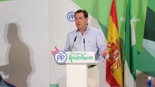 Juanma Moreno en el Consejo de Alcaldes del PP-A