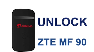 Unlock Code For ZTE MF 90 Airtel 4G Wi Fi Router