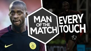 TOURE'S TWO GOAL COMEBACK!   Every Touch Yaya Toure vs Crystal Palace