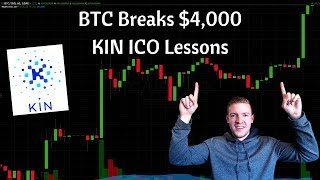 Bitcoin Breaks Through $4,000, Important ICO Lessons from Kin by Kik on Overly Aggressive Valuations