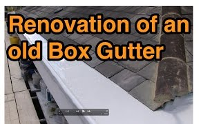 Box Gutter Renovation Using A Liquid Roofing System: Mariseal
