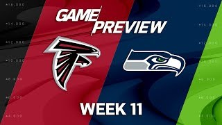 Atlanta Falcons vs. Seattle Seahawks | NFL Week 11 Game Preview | NFL Playbook
