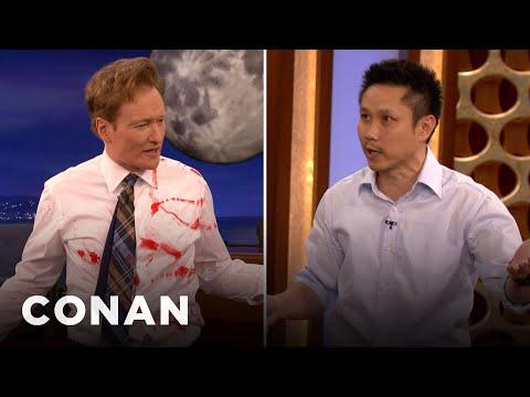 Steven Ho Teaches Conan Defense Against Guns & Knives CONAN on TBS