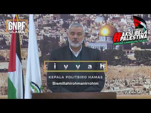 Pesan Menggetarkan Pemimpin Palestina Utk Indonesia