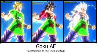 DBXV [Mod] : Goku AF transformable (SSJ, SSJ4, SSJ5)
