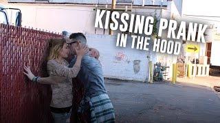 KISSING PRANK IN THE HOOD