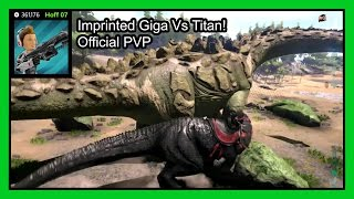 Ark 100% Imprint Giga Vs Wild Titanosaur on Official Xbox PVP