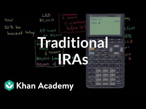 Traditional IRAs   Finance & Capital Markets   Khan Academy