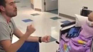 Heartwarming Video Shows Nurse Going The Extra Mile For Leukaemia Patient