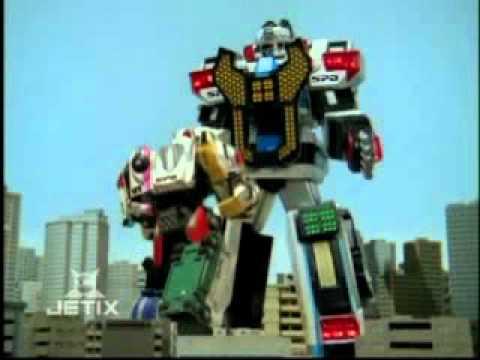 Power Rangers S.P.D. - Delta Command Megazord Transformation