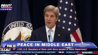 WATCH: John Kerry Speaks on 2-State Solution for Peace in the Middle East - FULL SPEECH