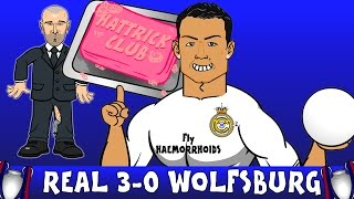 CRISTIANO RONALDO HAT-TRICK! Real Madrid vs VFL Wolfsburg 3-0 (Champions League PARODY 2016)