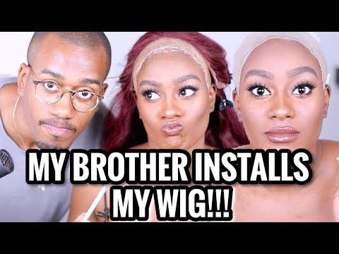 My Brother Installs My Frontal Wig LAWDDDD