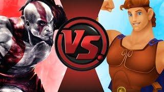 KRATOS vs DISNEY HERCULES! Cartoon Fight Club Episode 91