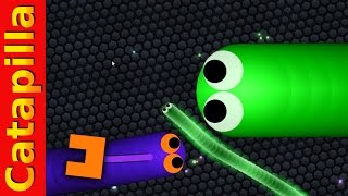 Slither Gameplay World Record Challange Slither.io mods hack, funny moments
