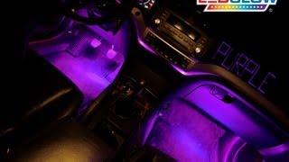 LEDGlow's 4pc Purple LED Interior Kit