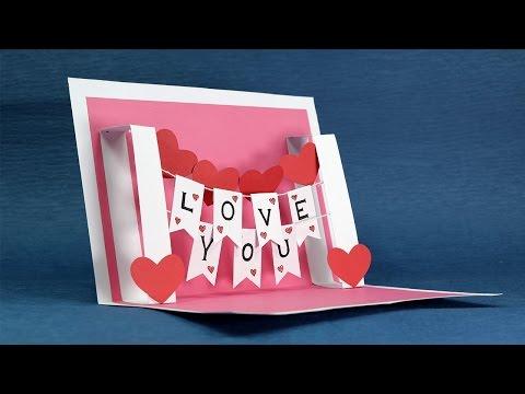 Xxx Mp4 DIY Valentine Card Handmade I Love You Pop Up Card 3gp Sex