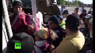 Migrants board buses to get closer to US-Mexico border