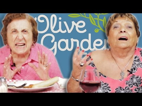 Xxx Mp4 Italian Grandmas Try Olive Garden For The First Time 3gp Sex