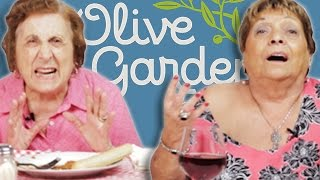 Italian Grandmas Try Olive Garden For The First Time