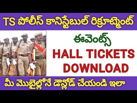 Xxx Mp4 TS Police Constable Admit Cards Download How To Download TS Police Constable Events Hall Tickets 3gp Sex