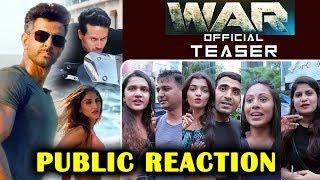 WAR Teaser | PUBLIC REACTION | Hrithik Roshan, Tiger Shroff, Vaani Kapoor | Releasing 2 Oct