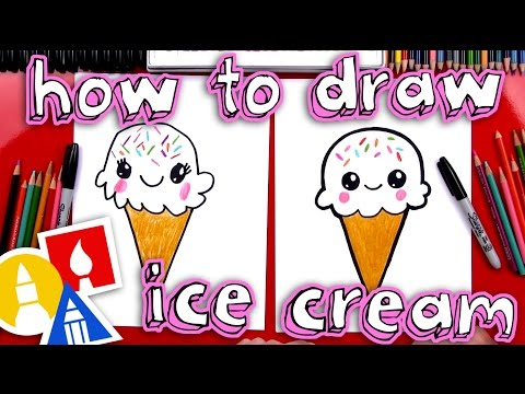 How To Draw A Cute Ice Cream Cone