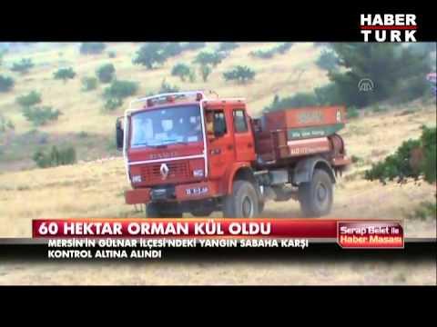 60 hektarlık orman kül oldu
