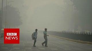 Choking Delhi smog draws protests - BBC News