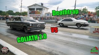 Street Outlaws Deathtrap vs Goliath 2.0 Jackson Dragway Chuck Has a Message for Season 10!! (4k)