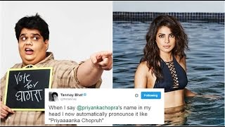 Tanmay Bhat Mocked Priyanka Chopra And Got A Kickass Reply From Her!