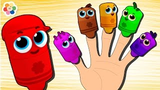 Learn Colors With Color Crew Finger Family | Finger Family Nursery Rhymes | BabyFirst TV