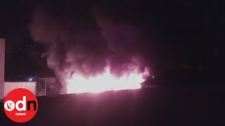 Dramatic video shows fire that killed teen footballers