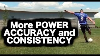 How to kick a soccer ball with power and accuracy ► how to shoot a football ► soccer shots tutorial