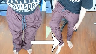 DIY: Baggy to Skinny Thrifted Trackpants!   KAD TRANSFORMATION #3